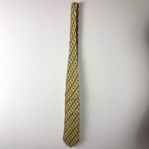 GUCCI yellow and blue 100% silk men's tie